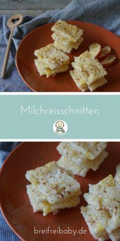 Breifrei und blw Frühstück für Babys - Milchreisschnitten