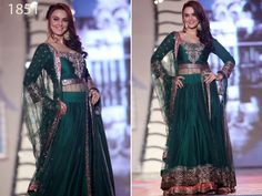 Preeti Green Floorlength Anarkali