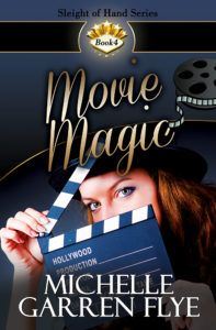 Movie Magic  by Michelle Garren Flye  ~~~~~~~~~~~~~  GENRE: contemporary romance  ~~~~~~~~~~~~~  BLURB:  Lights…camera…magic!  Sabrina Parker has spent her professional life creating unbelievable stunts and magical effects for movies and stage magicians. Now she needs some special magic to help her bring her movie to life.   #BookReview #ContemporaryRomance #Excerpt #giveaway #Sensual #Series