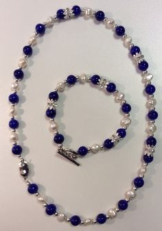 Ruth's lovely set mixing Pearls with Drawbench Beads.