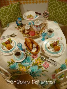 Vintage Style Garden Brunch by SS-Designs Doll Interiors, via Flickr