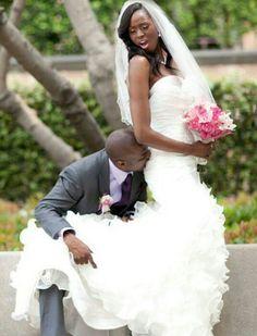 The Bride Her Groom