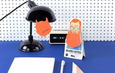 Beard Sticky Notes | 33 Desk Accessories That Will Make Your Day Better  These are awesome!! I need them all!