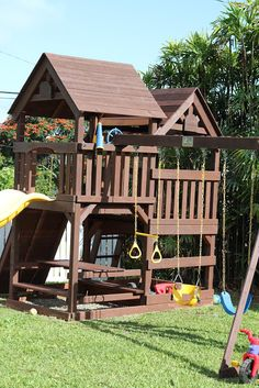 DIY- Wood Staining a Kids Swing Set : Livin' the Mommy Life
