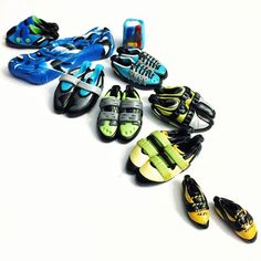 There's one in here NOT based on a real shoe - but on someone's favorite colors. Can you pick it out? | 15% off code: SENDIT | Bitly.com/heelhooks | #climbingshoes #rockclimbing #climbing #bouldering #climbing_pictures_of_instagram #climbing_is_my_passion