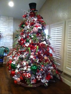 It is a 9 ft white tree. Lots of large ornaments · Christmas ... 6eadd06605f4