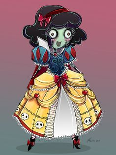 Cute Zombie Snow White by NoFlutter