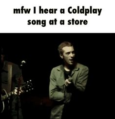 My 1,000th pin... is Chris Martin doing a funky dance & a relatable caption to go with it.