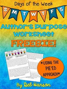 An upper elementary version of teaching author's purpose! The author of this… Comprehension Activities, Reading Strategies, Reading Skills, Teaching Reading, Reading Comprehension, Teaching Ideas, Reading Art, Writing Activities, Guided Reading