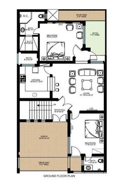 House floor plan 35x60 house plans
