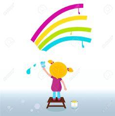 peinture personnage par enfants banque photos - Recherche Google