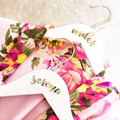Personalized Bridesmaid Hanger | Bridesmaid Gift Ideas | Getting Ready Robe Hangers for Wedding Gifts