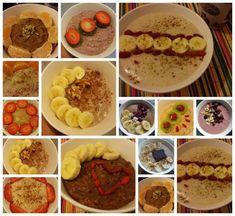 # Receitas de papas de aveia – Conceito FIT Healthy Breakfast Recipes, Healthy Recipes, Smoothies, Yummy Food, Delicious Meals, Cereal, Oatmeal, Muffin, Paleo