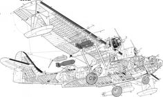 Aircarft Cutaway Us Navy Aircraft, Military Aircraft, Airplane Drawing, Aviation Theme, Plane Design, Flying Boat, Vintage Airplanes, Aircraft Design, Navy Ships