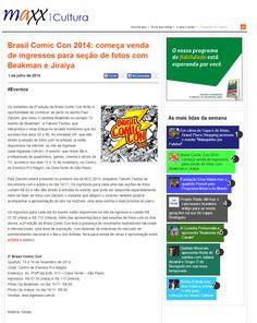 Brasil Comic Con 2014: começa venda de ingressos para seção de fotos com Beakman e Jiraya