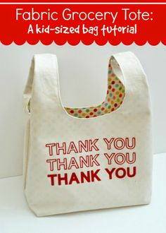 Grandma's Chalkboard: Fabric Grocery Bag (for Kids!) Tutorial