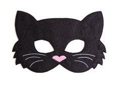 Halloween Kostüm, Halloween Costumes, Cat Costume Kids, Black Cat Costumes, Felt Kids, Printable Masks, Face Masks For Kids, Cat Mask, Animal Masks