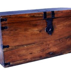 A wooden storage box can also be a nice piece of furniture.