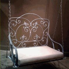 iron porch/garden swing...can see this on my oceanfront porch!