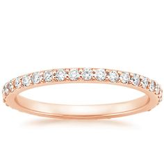 14K Rose Gold Eternity Petite Shared Prong Diamond Ring (1/2 ct. tw.) from Brilliant Earth