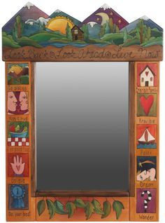 Whimsical Painted Mirrors | Small Peaked Mirror - I love this whole furniture series