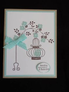 Hangin' to say thanks (CASE) by lisacurcio2001 - Cards and Paper Crafts at Splitcoaststampers