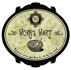 Awesome free Halloween Bottle Labels Worms Wart