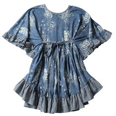 Paper Wings - pixie print smock dress