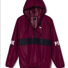 ⚡️ISO⚡️ In search of this Pink wind breaker! Please please please let me know if you have it or know someone who is selling it. Not going to pay full price for a used one! PINK Victoria's Secret Jackets & Coats