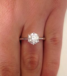love the simplicity of it 1 CT ROUND CUT DIAMOND SOLITAIRE ENGAGEMENT RING 14K WHITE GOLD