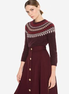 Uterqüe United Kingdom Product Page - New in - View all  - Sweater with border on neckline - 95