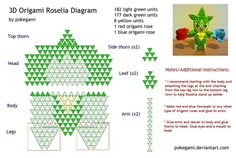 Origami Roselia Diagram By Pokegami