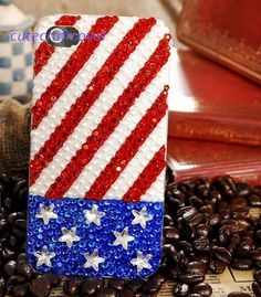 sparkly US flag iPhone case cute iPhone5 case iPhone 4s case bling galaxy s4 case cover galaxy note 2 case iPhone 3gs case