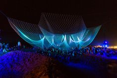 Giant Suspended Net Installations by Janet Echelman