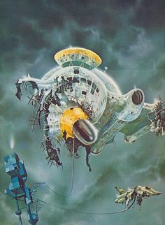Painting by Colin Hay from the book Spacecraft 2000 to 2100AD 1978