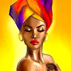 African Drawings, African Art Paintings, African Artwork, Black Love Art, Black Girl Art, Black Art Painting, Woman Painting, Black Artwork, Painting Abstract