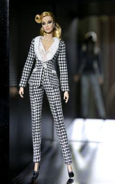 costume noir et blanc pour la royauté de la mode, Poppy Parker, Silkstone Barbie, fr2, 12