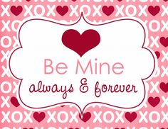 A set of three free Valentine's Day printables to be used in home decor.