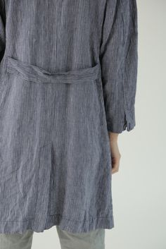 Cecile Work Coat: Navy Seersucker – Shop Fog Linen.  I totally could wear this every day. Maybe even to Kate's wedding?
