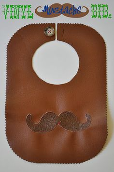 vinyl mustache bib