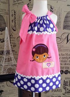 Super Adorable Doc McStuffins Pillowcase Dress with Applique on Etsy, $32.00