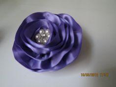 Purple Hair Flower  purple Bridal hair clip by ElegantWedding8, $15.00
