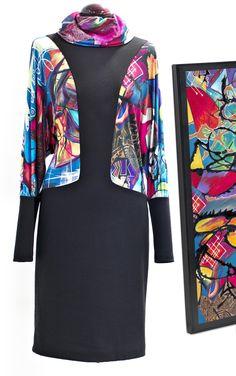 Maite Cobo refleja su carácter en cada diseño. Transmite su fuerza a través de los colores y trazos de sus estampados. Vas hecha un cuadro by Maite Cobo. #camiseta #regalo #bilbao