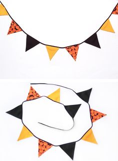 Fabric Halloween Bunting.