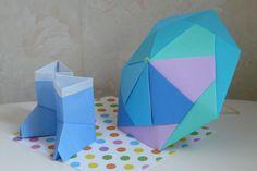 ユニット折り紙 ~コースター&立体パラソル~ - えつこのマンマダイアリー