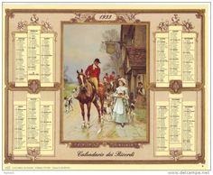 Calendario dei ricordi anno 1933