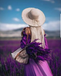 """""""The Boulevard of dreams"""" Lavender Fields, Lavender Blue, Dream Photography, Amazing Photography, Girls With Flowers, Stylish Girl Pic, Fashion Photography Inspiration, Women Swimsuits, Beautiful Images"""