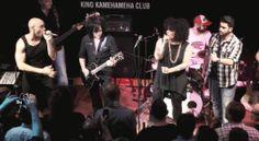 Steve Stevens at King Kamehameha Club in Frankfurt on his Knaggs signature guitar launch