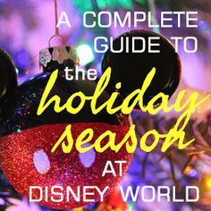 (Article last updated: November 5, 2016) The holiday season at Disney World includes a whole lot of different things - special events in the parks, beautiful