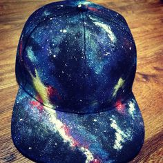 Custom hand painted flat bill Galaxy by ThirstyTreeCustoms on Etsy, $80.00